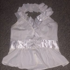 Halter Ruffle blouse